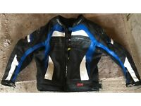 Mens rst pro series motorbike leather jacket size 50