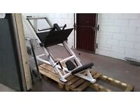 45 Degree plate loaded Leg Press. Exigo. VGC.£675.similar to Life Fitness Hammer Strength