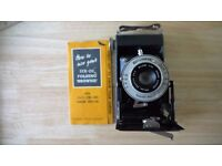 Brownie Six-20 Folding Camera, Black Case and original box