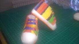 **NEW** Multi Coloured Baby Shoe/Pram/Bootie 0-6 months