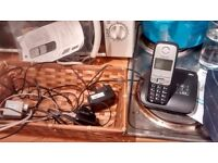 Telephone (cordless) with answermachine, excellent condition