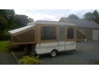 Trailer tent, folding camper, pop up Caravan, like Conway Cardinal,