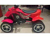 Falk red pedal pirate quad