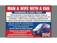 MAN WITH VAN, REMOVALS, ALL JOBS CONSIDERED. GARDEN CLEARANCE, HOUSE MOVES, LUTON VAN AVAILABLE