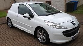 Peugeot 207 1.6hdi van with rear seats & new MOT, NO VAT