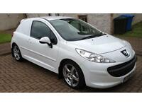 Peugeot 207 1.6hdi van with rear seats & new MOT, NO VAT