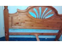 John Lewis double king size bed frame