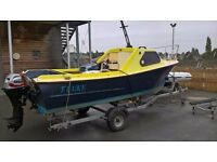 16ft Lotus Bennet cuddy fishing leisure boat used