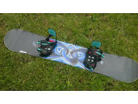 Snowboard 161 cm with Rossignol bindings