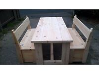 MADE BY HAND DINING/COFFEE TABLES,BEDS,DRESSERS,TV UNIT,SIDEBOARDS,GARDEN&PATIO BENCHES FROM £49 SEE