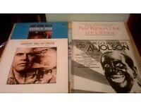 NAT KING COLE , AL JOLSON, BELAFONTE ALBUMS MIXED