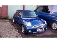 2009 Mini One - Pepper Pack - Stunning Metallic Lightning Blue - Only 47k miles One previous owner