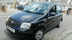 2012 12 plate Fiat Panda 1.2 Enos 5 door black low mileage long MOT and tax drives excellent