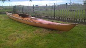 kayak, wooden cedar strip Night Heron