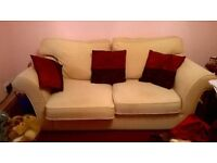 cream sofabed in good condition barely used