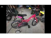 Halfords kids bike never used with stabilisers
