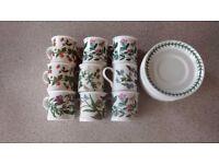 Nine Port Meirion Botanic Garden Coffee Cups and Saucers