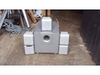 Phillips surround sound speakers x5