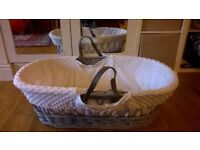 Claire de Lune Moses Basket with Organic Mattress