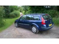 53 reg Renault Megan estate Long mot