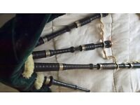 Set of vintage Bagpipes possibly made by J.T. Forbes of Dundee