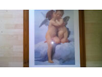 Large pine framed picture