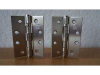 100mm stainless steel door hinges.Six Pairs.