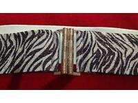 Womans plus size silver sparkle belt