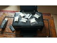 Epson sx125 printer scanner copier with 6 sealed ink cartriges and 4 in the printer ready