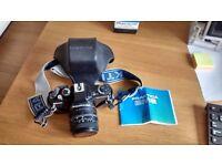 Practika BMS SLR camera and Prakticar 2 x tele lens