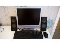 pc monitor and speakers