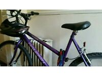 Ladies purple mountain bike. Raleigh branded