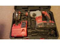 Milwaukee sds hammer drill Including case 1 x 3.0a battery, 1 x 4.0a battery & charger