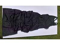 Jane Norman ladies 'Pear Drop' long black dress size 10