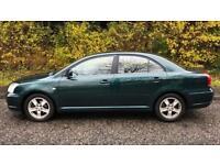 TOYOTA AVENSIS VVT-I 1.8L (2003) year mot 5 door family car very clean