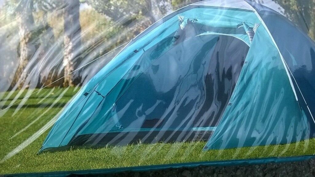 family camping equipment and car trailer - all