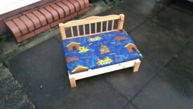 Wooden dog bed new