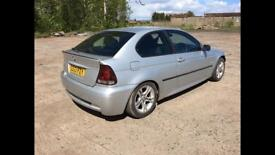 3.0 Msport compact 230 bhp fast road/Track car. Years mot.