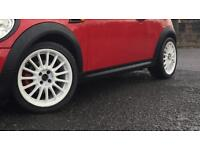 17 4x100 touring car style alloys fit mini clio corsa etc
