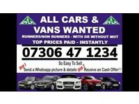 🇬🇧♻️ WE BUY CARS VANS CASH TODAY SELL MY ANY CONDITION WANTED SCRAP FAST COLLECTION BARKING