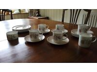 Wedgewood china - Talisman by Susie Cooper, cups, saucers and side plates