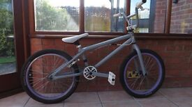 BMX Bike, Grey, White and Purple, Good conditions from GT bikes