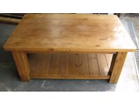 reclaimed pine coffee table for sale