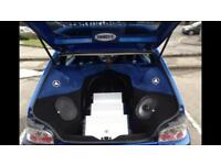 Show car saxo 7k JL Audio boot build