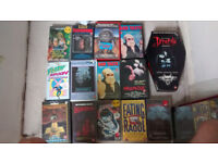 14 HoRrOr FiLmS vhs VIDEOS VINTAGE COLLECTABLE GREAT COLLECTION EATING RAOUL FRIGHTNIGHT BRAINDEAD