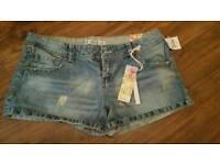 Denim shorts size 12/14