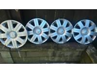 Silver wheel trims