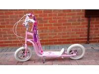 Childs scooter almost brand new used about twice so tyres are'nt even dirty