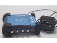 Samson S-amp - Mini Stereo 4-channel Headphone Amplifier and a 8 way loom trs jack