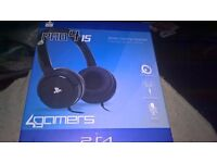 PS4 PRO415 STEREO GAMING HEADPHONES BRAND NEW